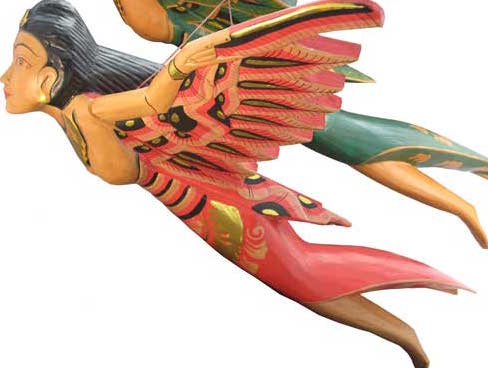 "Flying Wood Angel 16"""