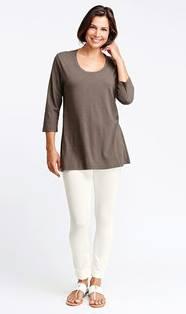 3/4 Sleeve Flax Barn Tunic