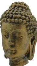 Antique Buddha Reproduction On Stand