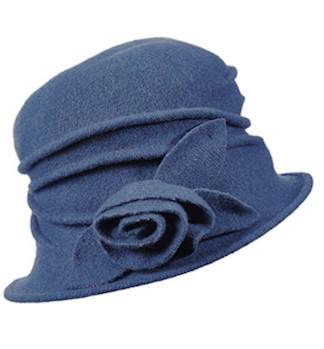 Boiled Wool Cloche Hat