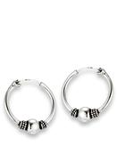 Sterling Silver  Bali Style Hoop Earring