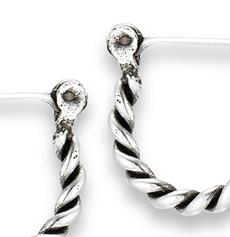 Silver Bali Style Hoop Earring