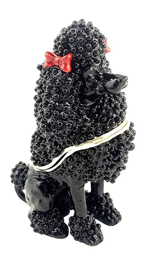 Black Poodle Trinket / Jewelry Box