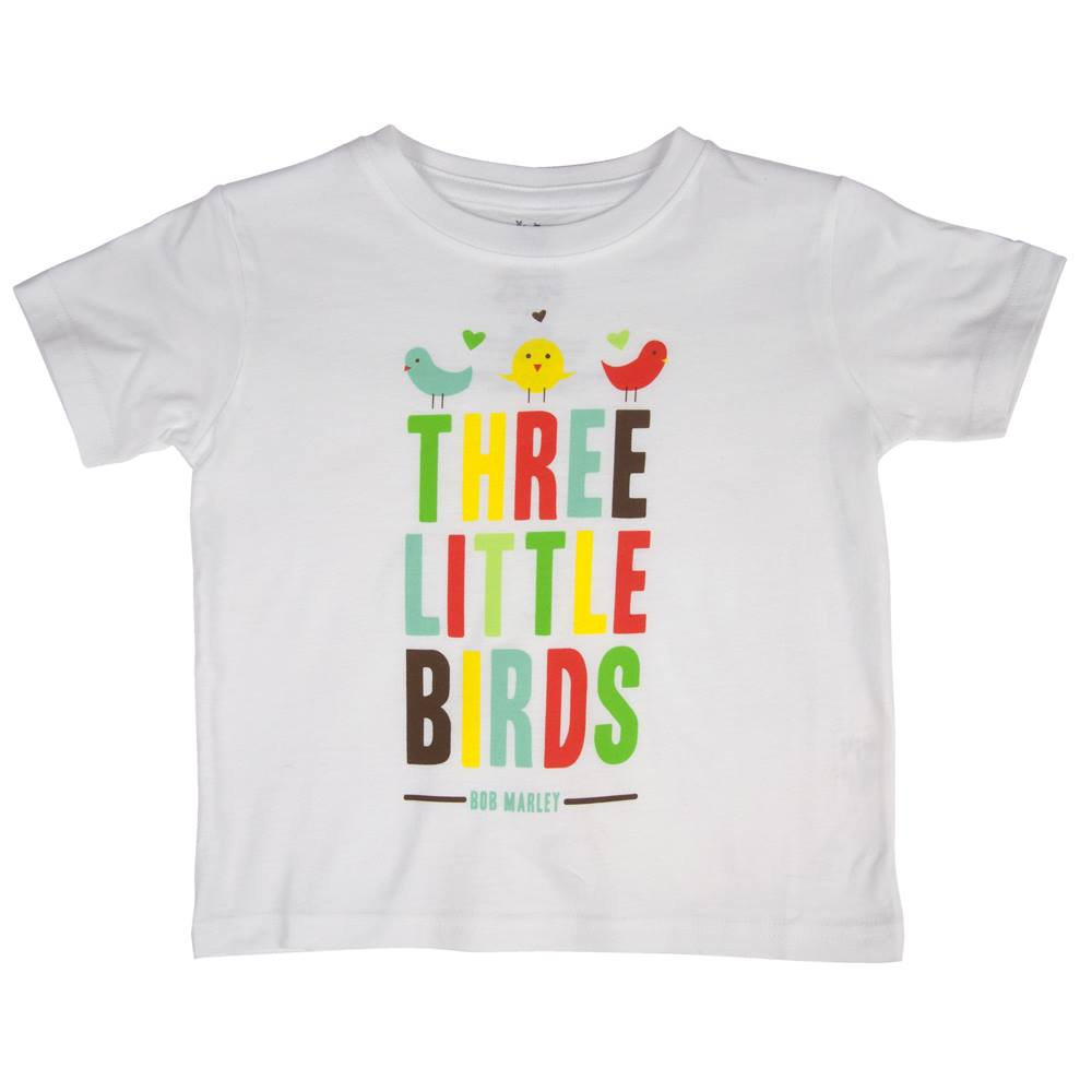 Bob Marley Three Little Birds White T-Shirt - Toddler's