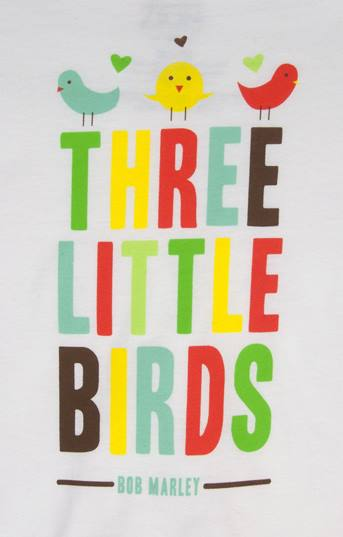 Bob Marley Three Little Birds White T-Shirt - Toddler's