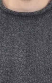 Charcoal Alpaca Knit Roll Neck Sweater