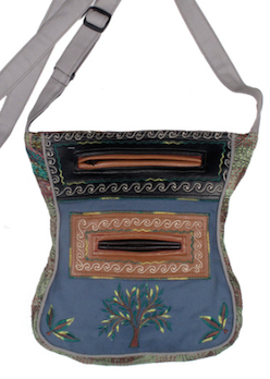 Hourglass Embroidered Purse