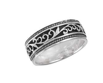 Sterling Silver Tibetan Style Filigree Ring