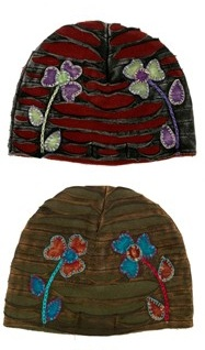 Fleece and Cotton Appliqued Hats