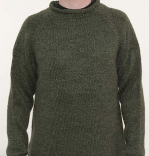 Forest Alpaca Knit Roll Neck Sweater