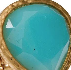 Gold Turquoise Teardrop Ring