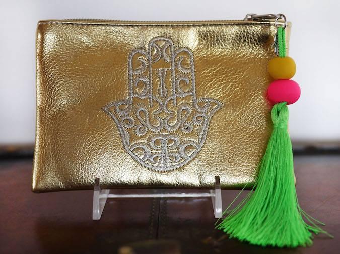 Hamsa Pouch Gold Small