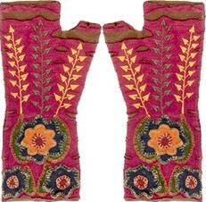 Harvest Fleece And Cotton Fingerless Gloves