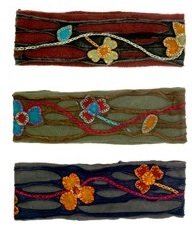 Fleece and Cotton Appliqued Headbands