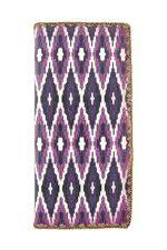 Ikat Pattern Print Vegan Leather Large Wallet