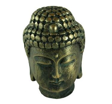 Large Faux Brass Buddha Head