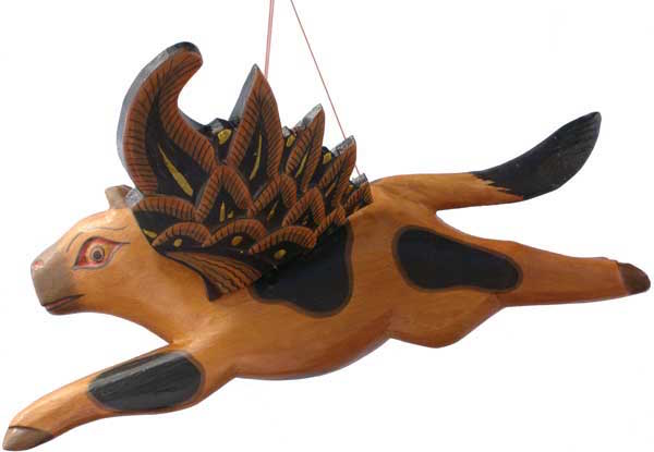 Flying Wood Cow.12 inches.