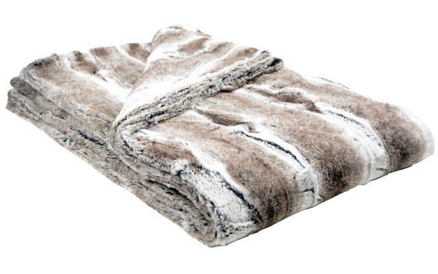 Throw - Luxury Faux Fur In Birch