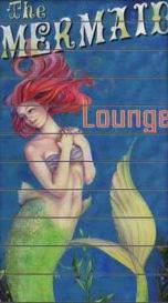 Mermaid Lounge Wood Sign