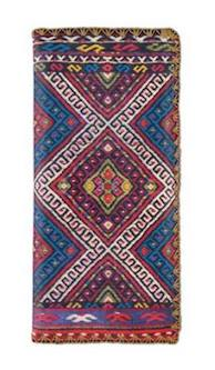 Plitvice Balkan Print Vegan Leather Large Wallet