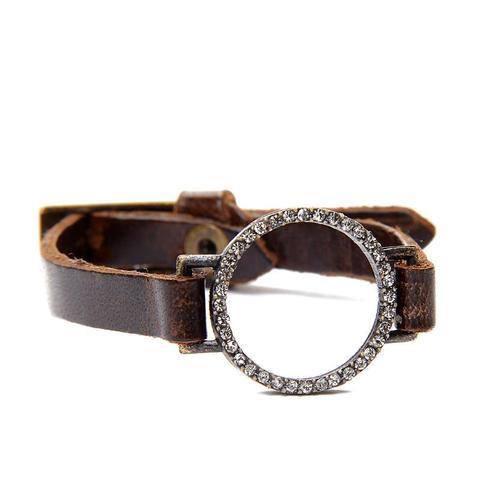 Rebel Designs Black Diamond Swarovski Crystal Circle Bracelet
