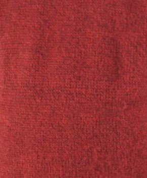 Red Alpaca Knit Roll Neck Sweater