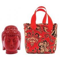 Red Resin Buddha in a Bag