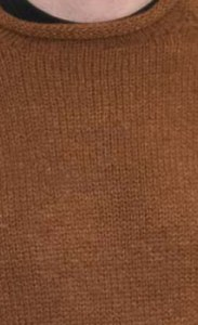 Rust Alpaca Knit Roll Neck Sweater