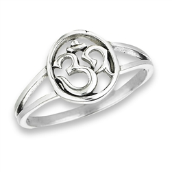 Sterling Silver Double Shank OM Ring