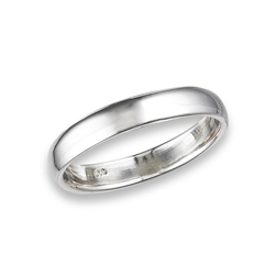Sterling Silver Classic High Polish Heavy Gauge Wedding Band