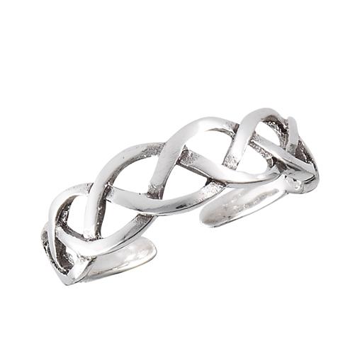 Sterling Silver Celtic Weave Toe Ring