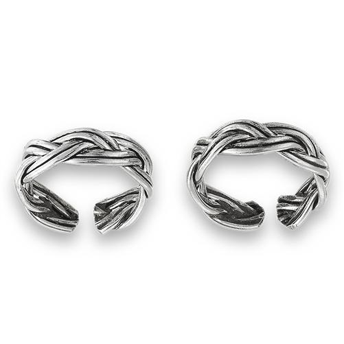 Sterling Silver Braid Ear Cuff