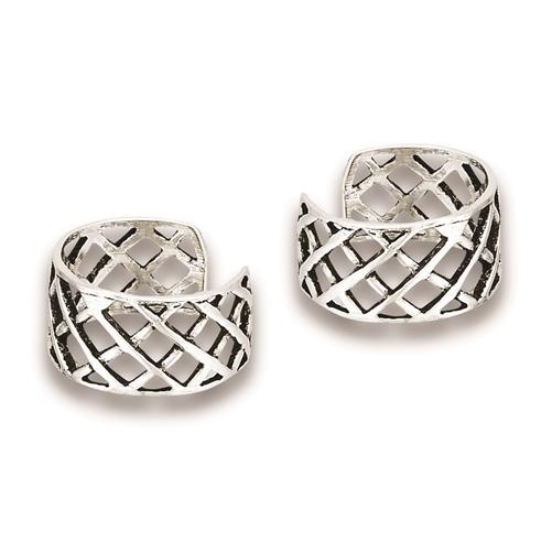 Sterling Silver Cross Ear Cuff