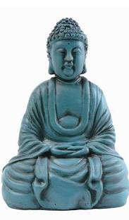 Buddha - Resin - Turquoise