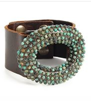 Vintage Brown w African Turquoise