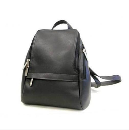 Leather U Zip Mini Back Pack