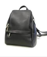 Leather U Zip Mini Back Pack