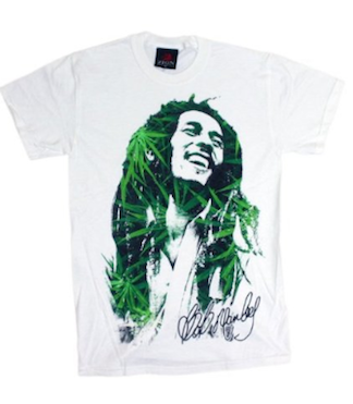 ZION Rootswear Leaves Dreads Bob Marley T-Shirt White