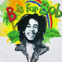 Kiditude Bob Marley Rainbow Baby Bodysuit Romper, White