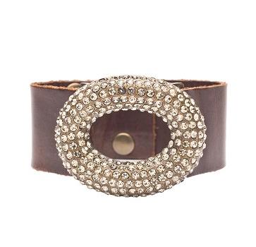 Open Dome Bracelet with Swarovski Crystals