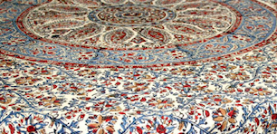 "table Cloth Circle  Kalamkari 60""x90"""