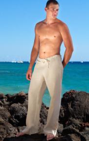 Natural Linen Riviera Pant