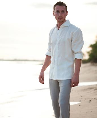 White Linen Amalfi Shirt