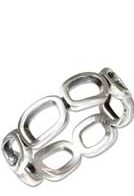 STERLING SILVER OPEN LINK BAND RING