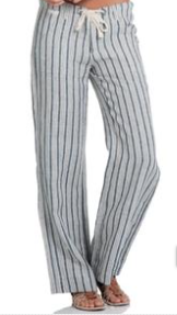 Pants Drawstring Stripe
