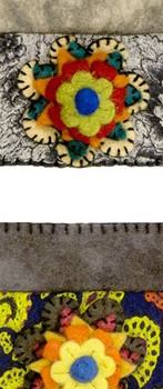 Stitched Envelope Wool Coin Purse