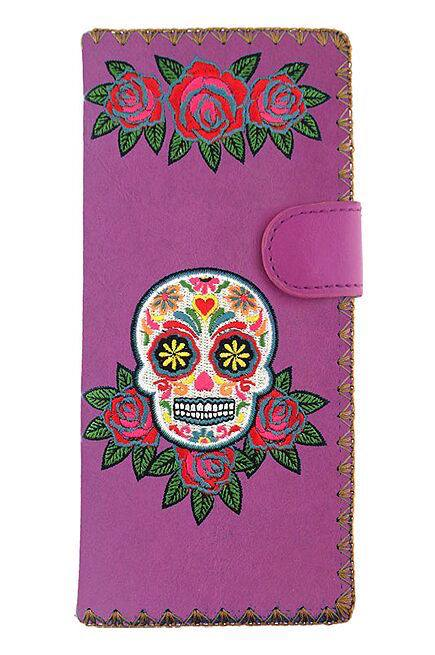 Sugar Skull Purple Wallet