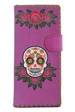 Sugar Skull Purple Wallet