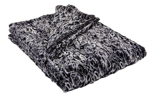 Throw - Luxury Faux Fur In Marble Palace