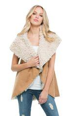 Vest w/Suede Outside Fur Inside